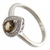 انگشتر تورمالین الماس نشان زنانه