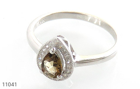انگشتر تورمالین الماس نشان زنانه - عکس 1