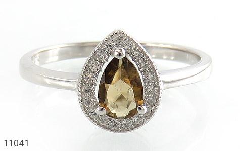 انگشتر تورمالین الماس نشان زنانه - تصویر 2