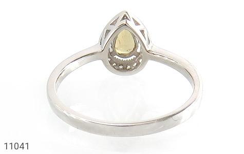 انگشتر تورمالین الماس نشان زنانه - تصویر 4