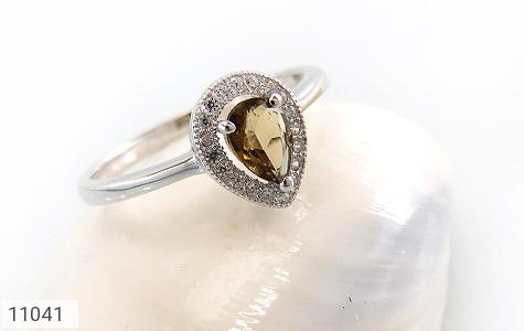 انگشتر تورمالین الماس نشان زنانه - عکس 5