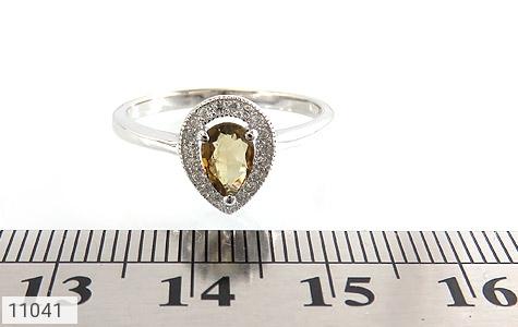 انگشتر تورمالین الماس نشان زنانه - تصویر 6