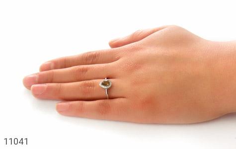 انگشتر تورمالین الماس نشان زنانه - عکس 7