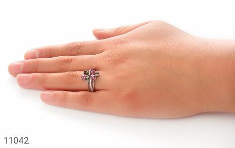 انگشتر تورمالین طرح طراوت زنانه - عکس 7