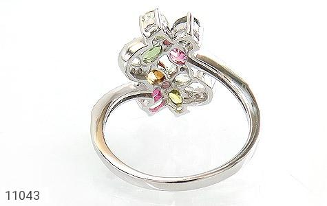 انگشتر تورمالین طرح عروس زنانه - تصویر 4