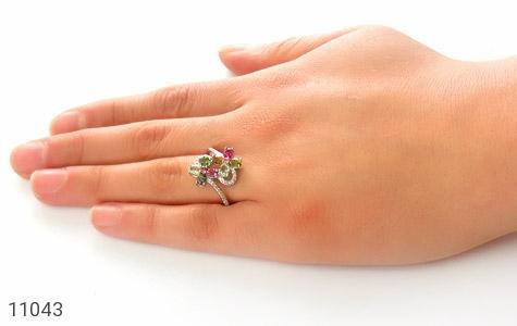 انگشتر تورمالین طرح عروس زنانه - عکس 7