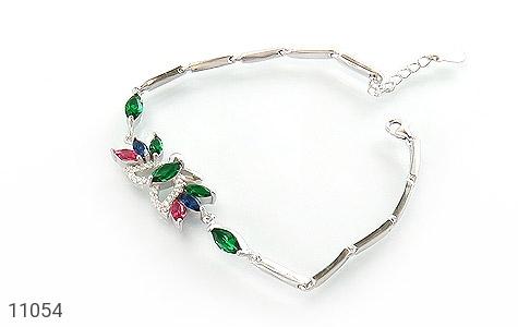 دستبند نقره طرح نازلی زنانه - عکس 1