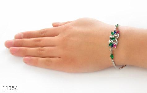 دستبند نقره طرح نازلی زنانه - عکس 5