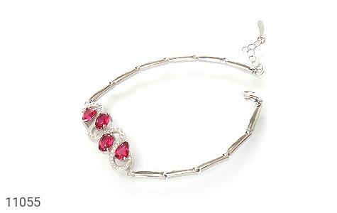 دستبند نقره طرح پیچ باشکوه زنانه - عکس 1