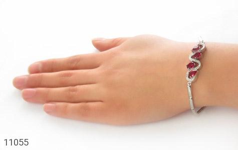 دستبند نقره طرح پیچ باشکوه زنانه - عکس 5
