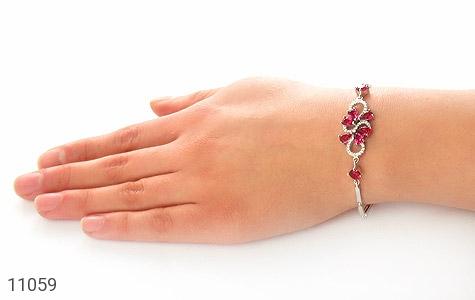 دستبند نقره مجلسی طرح نازآفرین زنانه - عکس 5