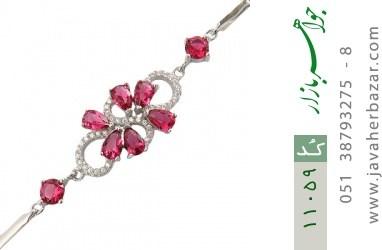 دستبند نقره مجلسی طرح نازآفرین زنانه - کد 11059