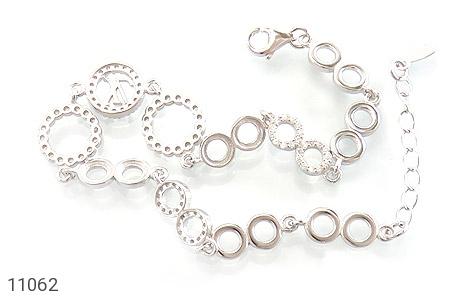 دستبند نقره LV طرح تیراژه زنانه - تصویر 2