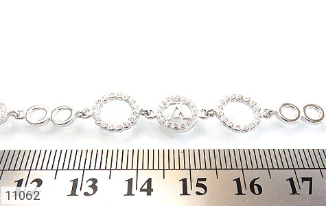دستبند نقره LV طرح تیراژه زنانه - تصویر 4