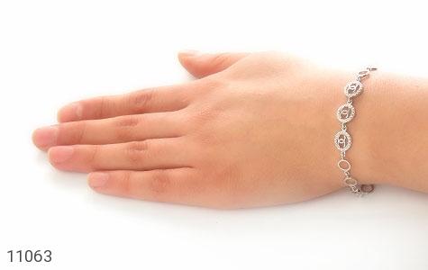 دستبند نقره مجلسی طرح جیهان زنانه - عکس 5
