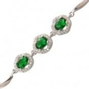 دستبند نقره درخشان طرح آنیما زنانه