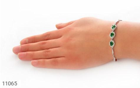 دستبند نقره درخشان طرح آنیما زنانه - عکس 5
