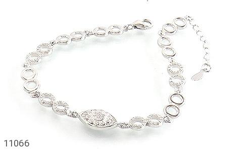 دستبند نقره درخشان طرح چاوان زنانه - عکس 1