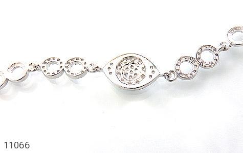 دستبند نقره درخشان طرح چاوان زنانه - تصویر 2