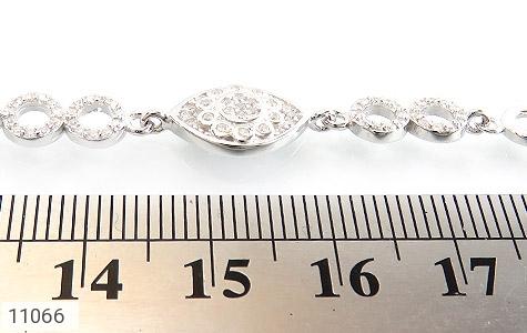 دستبند نقره درخشان طرح چاوان زنانه - تصویر 4