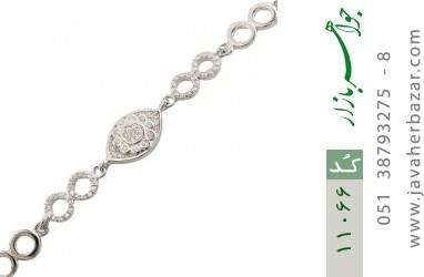 دستبند نقره درخشان طرح چاوان زنانه - کد 11066