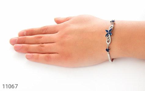 دستبند نقره طرح جیهان زنانه - عکس 5