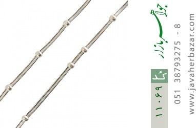 زنجیر نقره 40 سانتی سنگین طرح نقطه خط - کد 11069