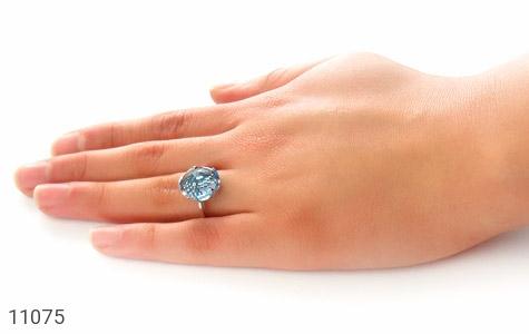 انگشتر نقره درشت طرح ژیکان زنانه - عکس 7