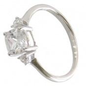 انگشتر نقره الماس نشان زنانه