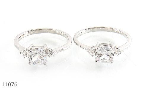 انگشتر نقره الماس نشان زنانه - تصویر 2