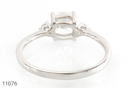 انگشتر نقره الماس نشان زنانه - تصویر 4