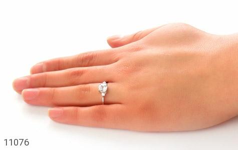 انگشتر نقره الماس نشان زنانه - عکس 7