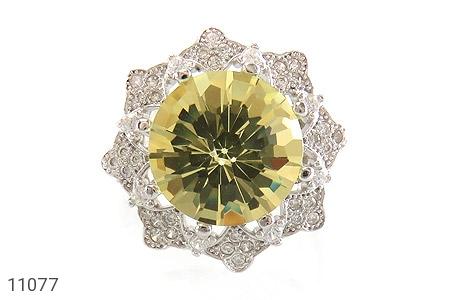 انگشتر نقره جواهری طرح ملکه زنانه - تصویر 2