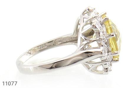 انگشتر نقره جواهری طرح ملکه زنانه - عکس 3