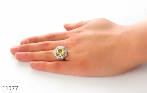 انگشتر نقره جواهری طرح ملکه زنانه - عکس 7