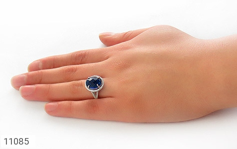 انگشتر نقره درخشان طرح گیوا زنانه - عکس 7