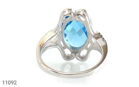 انگشتر نقره درشت طرح تابان زنانه - تصویر 4