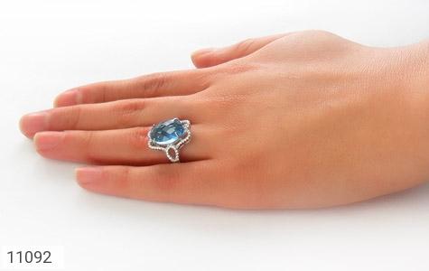 انگشتر نقره درشت طرح تابان زنانه - عکس 7