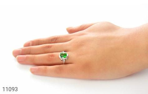 انگشتر نقره درخشان طرح پونه زنانه - عکس 7