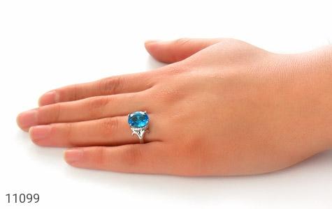 انگشتر نقره درخشان طرح گلاریس زنانه - عکس 7
