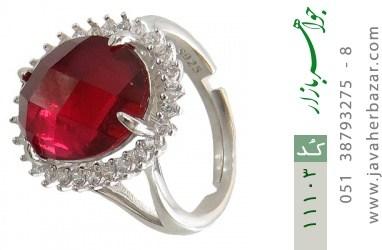 انگشتر نقره درشت طرح ماردین زنانه - کد 11103