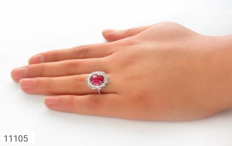 انگشتر نقره طرح گلناز زنانه - عکس 7