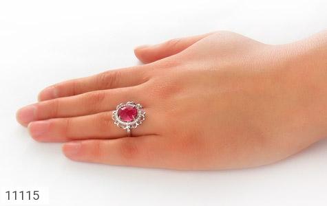 انگشتر نقره درخشان طرح هورین زنانه - عکس 7