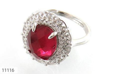 انگشتر نقره زیبا طرح نگین زنانه - عکس 1