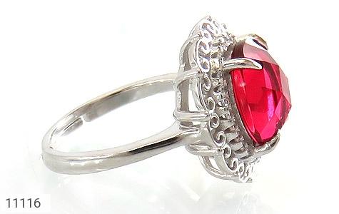 انگشتر نقره زیبا طرح نگین زنانه - تصویر 2