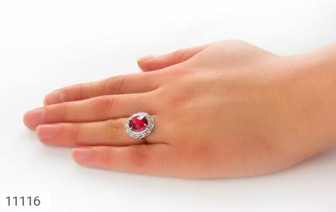 انگشتر نقره زیبا طرح نگین زنانه - عکس 7