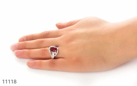 انگشتر نقره طرح گیتی زنانه - عکس 7