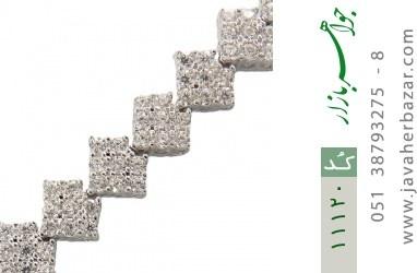 دستبند نقره مجلسی و شیک طرح آسانسوری زنانه - کد 11120