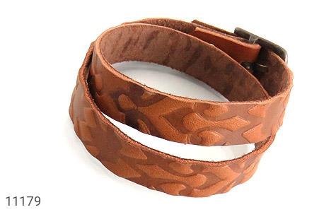 دستبند چرم طبیعی بلند و زیبا - تصویر 2