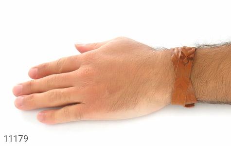 دستبند چرم طبیعی بلند و زیبا - عکس 7